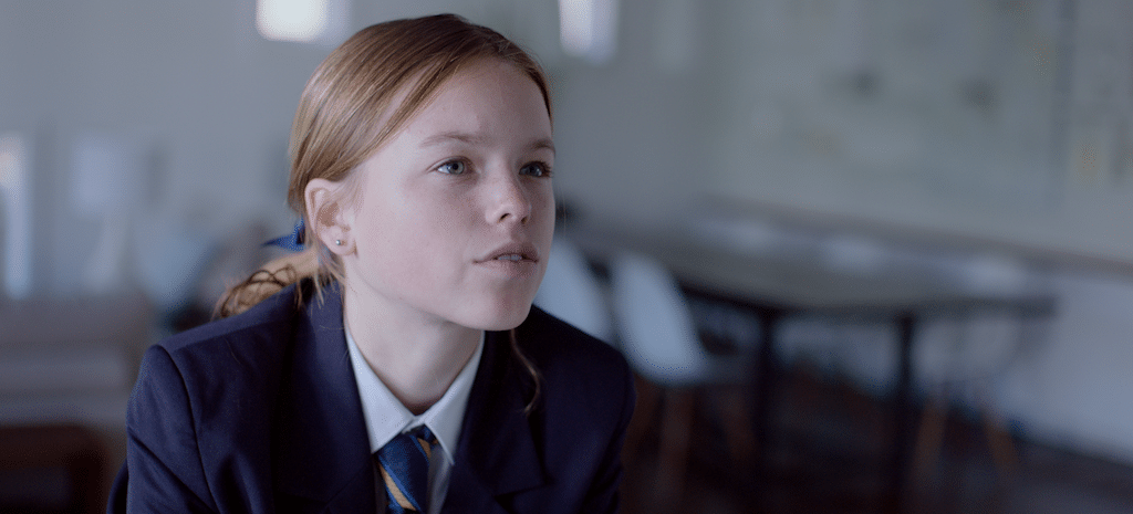 Isabella (Milly Alcock) in HIGH LIFE.