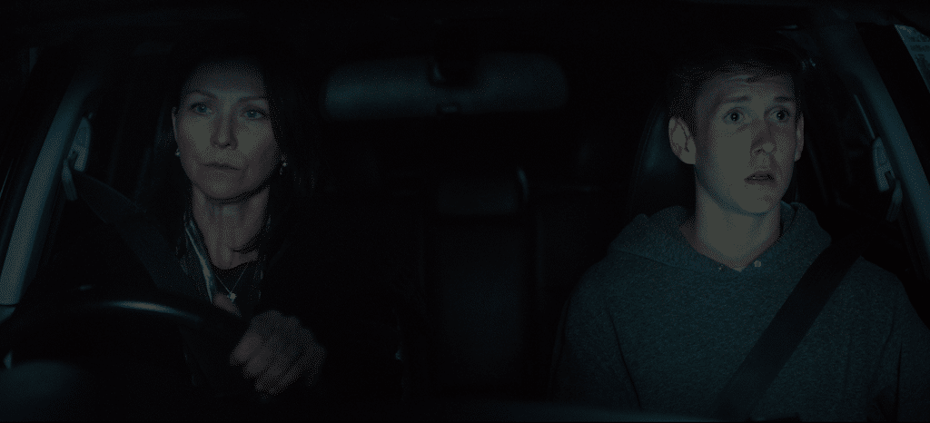 Maggie (played by Anita Hegh, left) and Ben (Benson Jack Anthony) in HIGH LIFE.