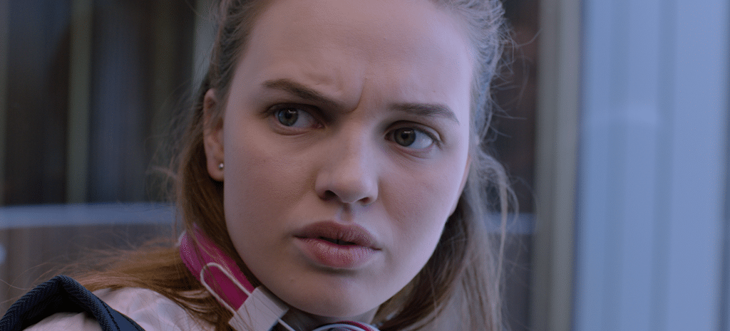 Genevieve (played by Odessa Young) in HIGH LIFE.
